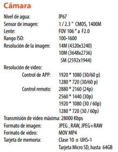cámara splashdrone 4k impermeable